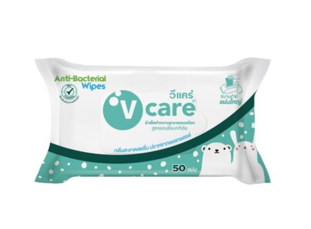 V care Antibacterial Wipes 1