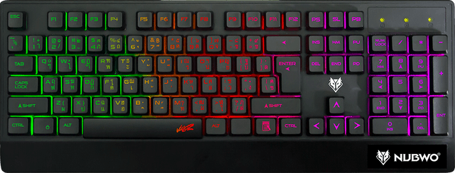 Nubwo VALOZ NK019 Rubber Dome switch Gaming Keyboard 1