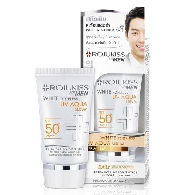 ROJUKISS For Men White Poreless UV Aqua Serum SPF50+ PA+++  1