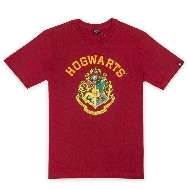 Warner Bros. ของสะสม เสื้อยืดผู้ชาย Harry Potter Hogwarts T-shirt  1