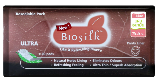 Biosilk แผ่นอนามัยสมุนไพร 1