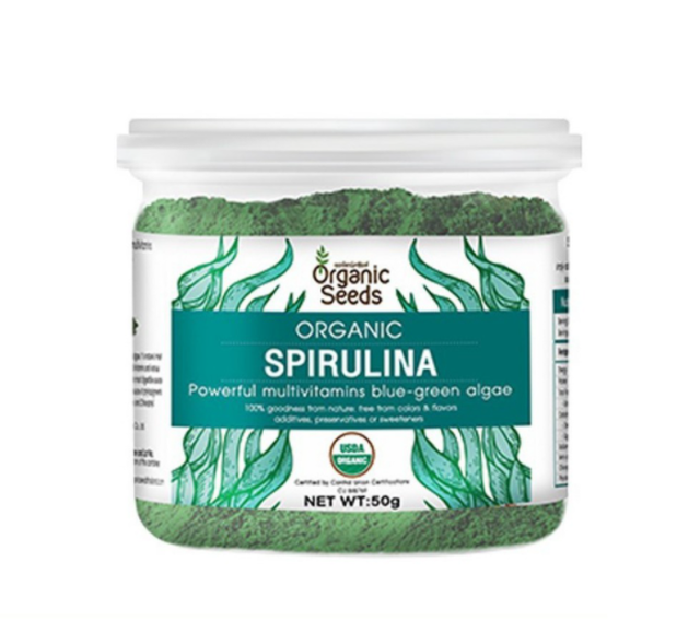 Organic Seeds ผงสาหร่ายสไปรูลิน่า Organic Spirulina Powder 50 g 1