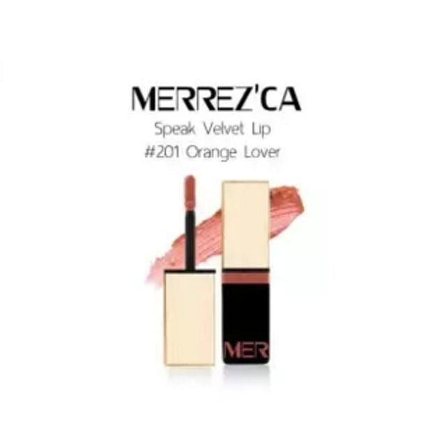 Merrez'ca  Speak Velvet Lip สี 201 Orange Love 1