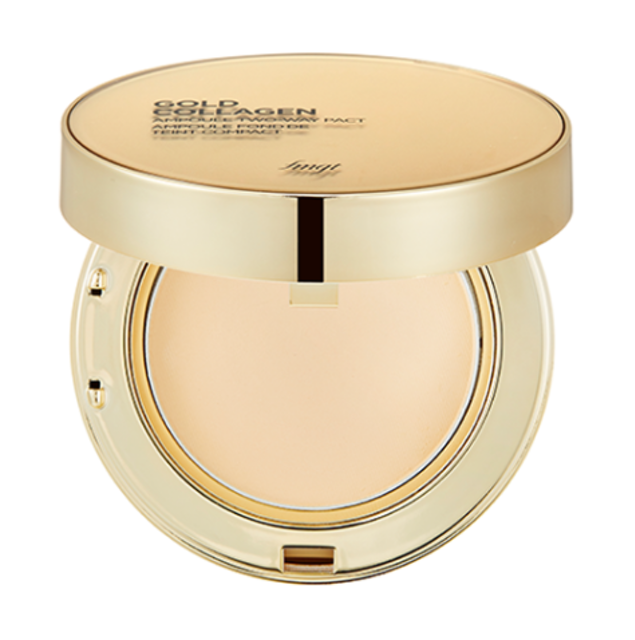 THE FACE SHOP Gold Collagen Ampoule Two-way Pact 1