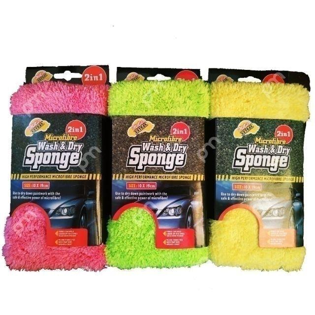 Autoextras ฟองน้ำล้างรถ Microfiber Wash & Dry Sponge  1