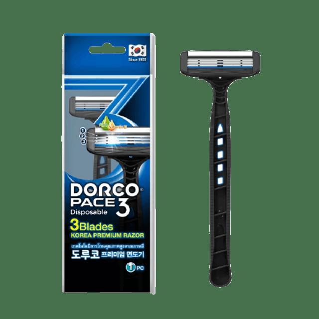 DORCO Dispose Razor PACE 3, 3 blades 1