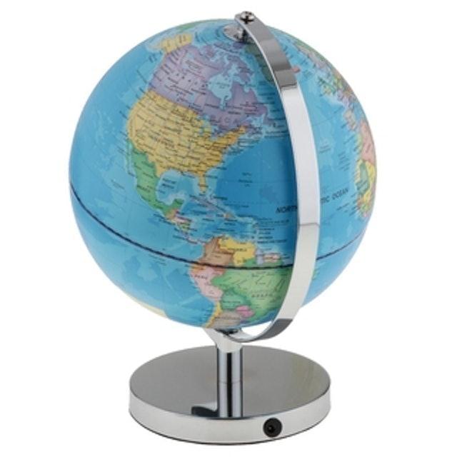 BolehDeals แผนที่โลก Illuminated Spinning World Globe Constellation Map 1