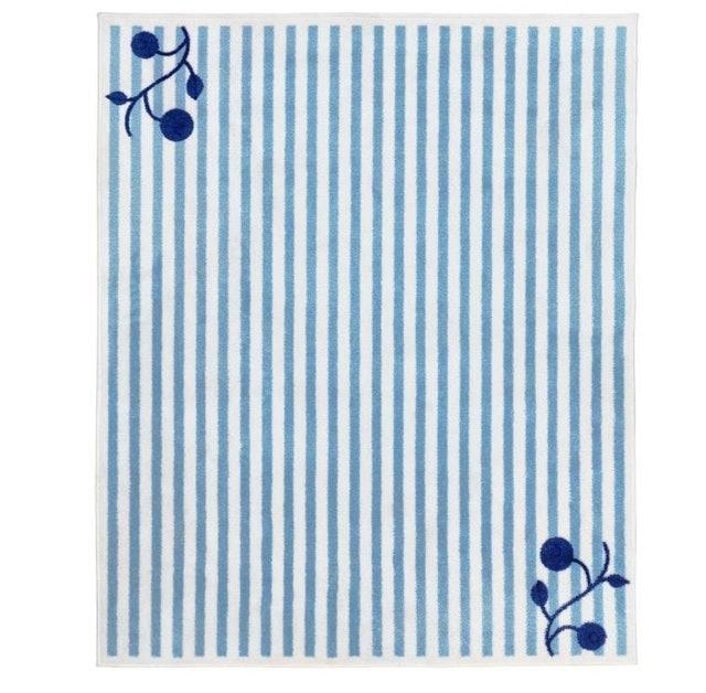 IKEA GULSPARV Rug Striped Blue/White 1