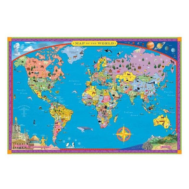 Eeboo แผนที่โลก 1