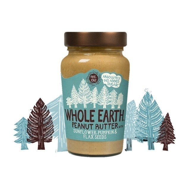 WHOLE EARTH Peanut Butter with Sunflower, Pumpkin & Flax Seeds 1