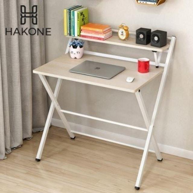 HAKONE โต๊ะคอมพิวเตอร์ไม้ พับได้ 1
