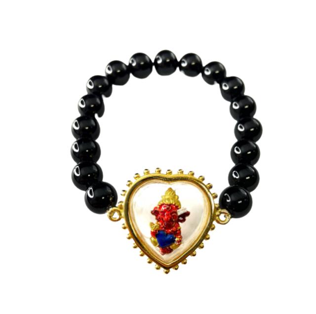 Leila Amulets เครื่องรางความรัก คเนศน้อยบันดาลรัก กรอบหัวใจ  1