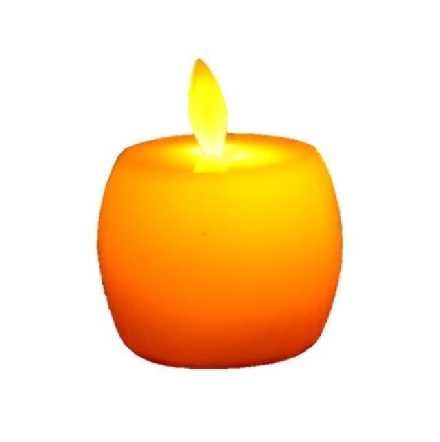 THAIRSO เทียน LED แสงสีส้ม เปลวไฟกะพริบ 1