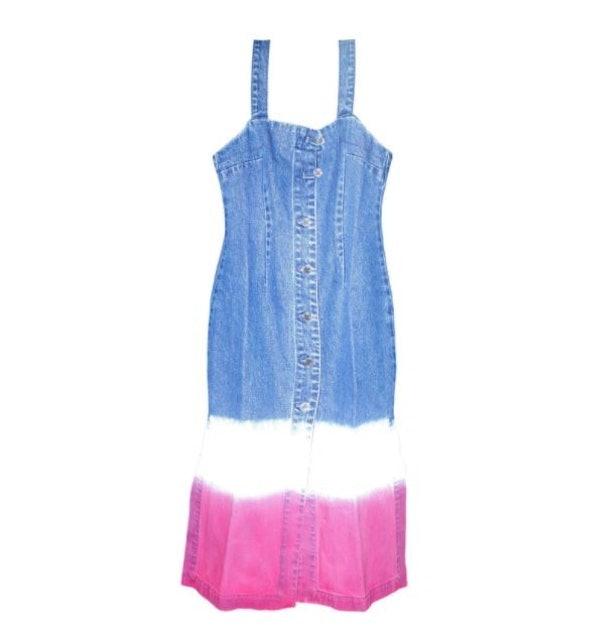 Matter Makers ชุดมัดย้อมไปทะเล Tie-Dyed Denim Dress ชุดเดรสเอี๊ยมยีนไล่สี 1