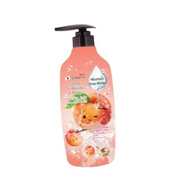 SMOOTO ครีบอาบน้ำ Shower Cream Peach Collagen 1