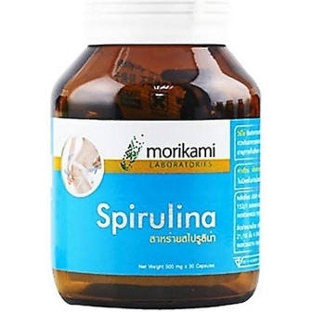 Morikami  สาหร่ายสไปรูลิน่า Spirulina 500 mg 1