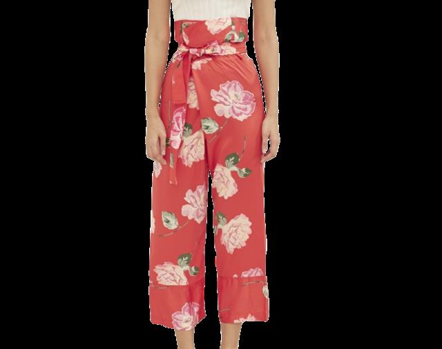Seashells Swimwear  กางเกงเล Red Floral Oceana Pants 1