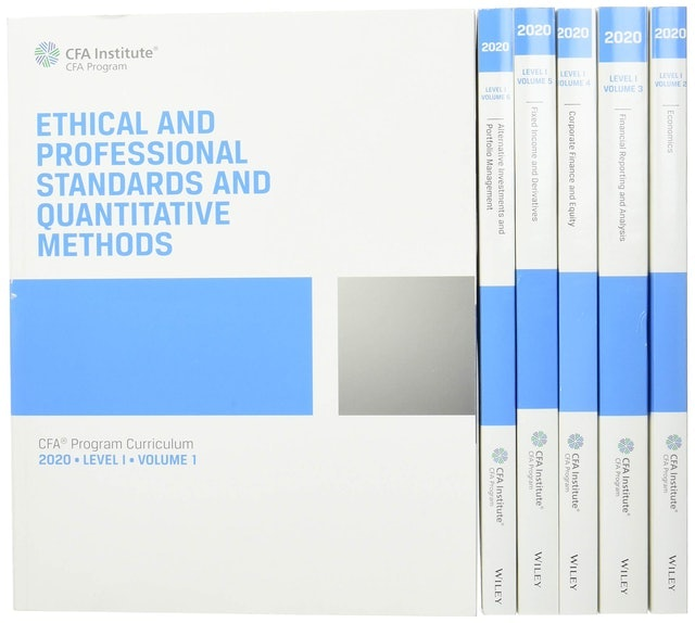 CFA Institute หนังสือเตรียมสอบ CFA Program Curriculum 2020 Level I Volumes 1-6 Box Set (CFA Curriculum 2020) 1st Edition 1