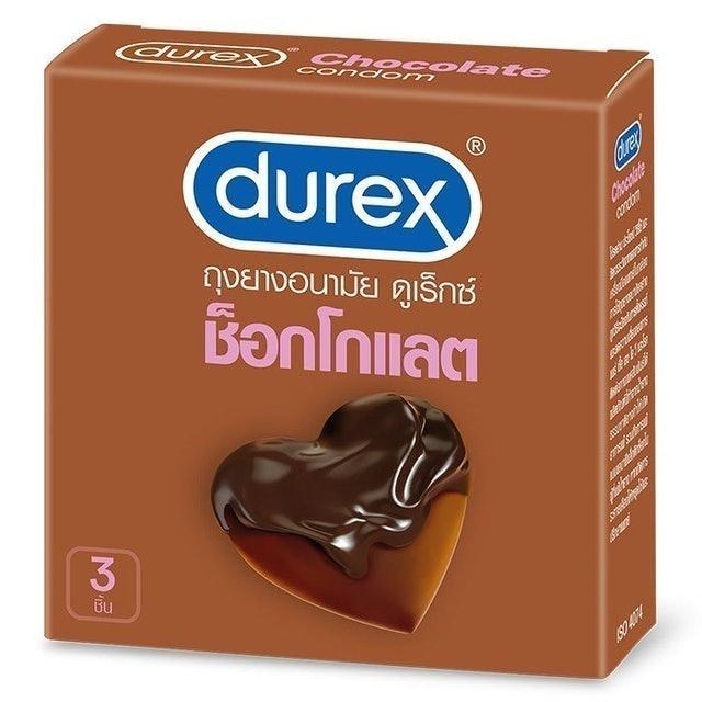 Durex ถุงยางอนามัย รุ่น Chocolate Smooth 1