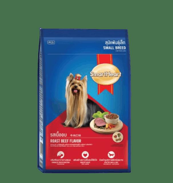 สมาร์ทฮาร์ท  อาหารสุนัขพันธุ์เล็ก รสเนื้ออบ  1