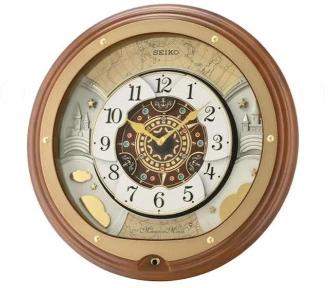 SEIKO นาฬิกาแขวน รุ่น QXM381B สีน้ำตาล 1