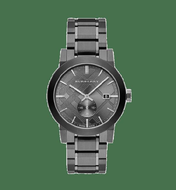 BURBERRY นาฬิกาข้อมือ รุ่น The City Gunmetal Dial  1