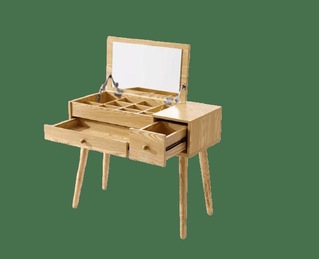 Aidia โต๊ะเครื่องแป้งไม้สไตล์ญี่ปุ่น 1