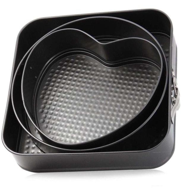 KitchenMarks เซ็ตแม่พิมพ์เค้ก 3 ชิ้น 3 ลาย หัวใจ วงกลม สี่เหลี่ยม 1