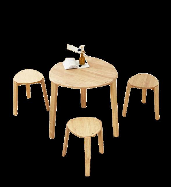 ProSpace โต๊ะกินข้าว ชุดโต๊ะอาหารไม้ยางพารา รุ่น Pisola   1