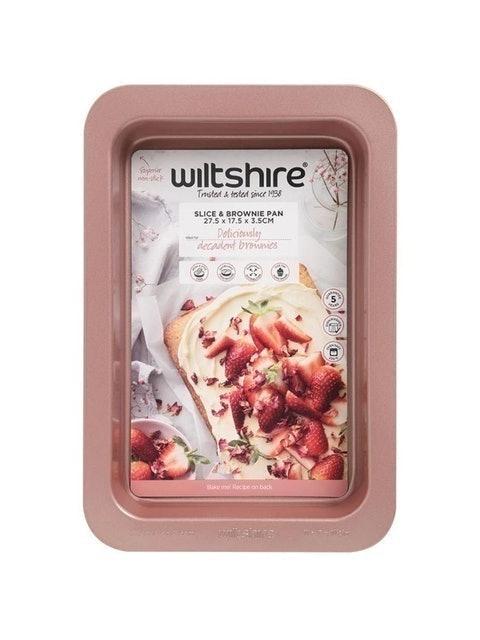 Wiltshire ถาดอบขนมทรงสี่เหลี่ยม สีโรสโกลด์ 1