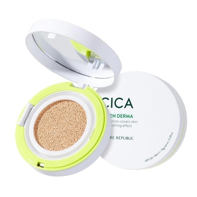 NATURE REPUBLIC Green Derma Mild Cica Serum Cover Cushion SPF50+ PA+++ 1