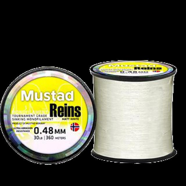 MUSTAD REINS เอ็น เกรดพรีเมี่ยม สายเอ็น ตกปลา Monofilament สีขาว 1