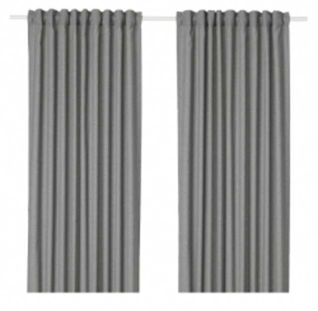IKEA  ผ้าม่านคู่แบบยาวทึบแสง HANNALENA ฮันนาเลียนา 1