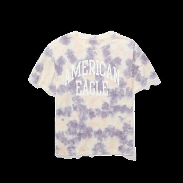 American Eagle  ชุดมัดย้อมไปทะเล Tie Dye Graphic T-Shirt 1