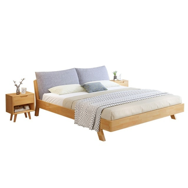 BAIERDI เตียงนอน 6 ฟุต รุ่น ไม้เนื้อแข็ง 2