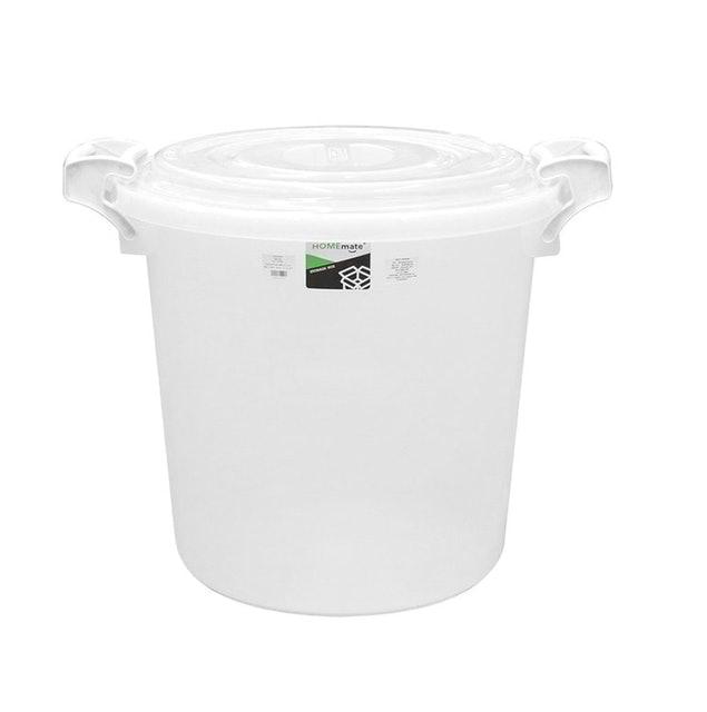 HOME MATE  ถังเก็บน้ำพลาสติกพร้อมฝา รุ่น 60 ลิตร สีใส  2