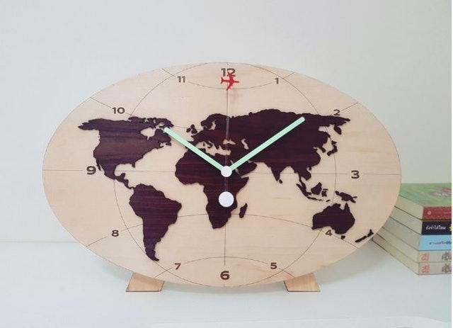 Emit นาฬิกาไม้แขวนผนังรุ่น Wooden World-B-S 1