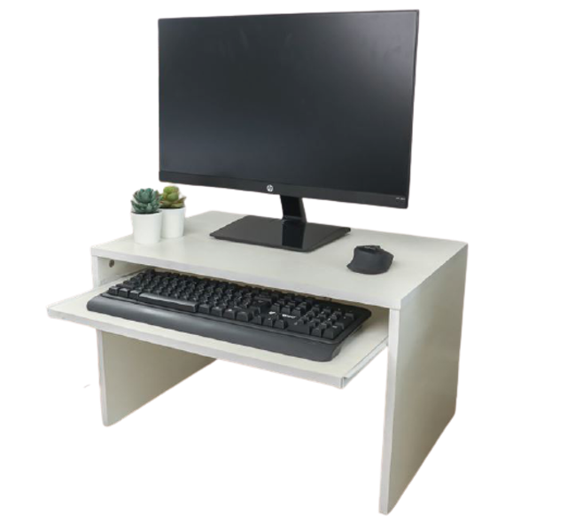HAKONE โต๊ะคอมพิวเตอร์ไม้ พร้อมที่วางคีย์บอร์ด 1