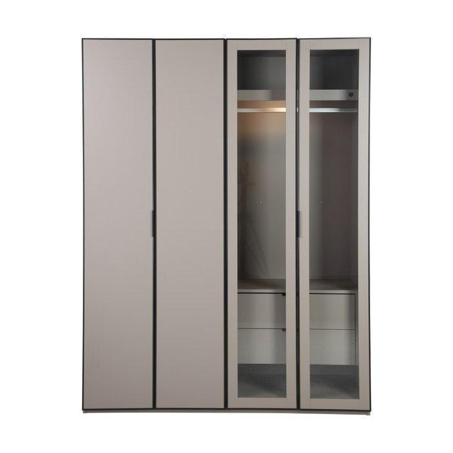 WINNER FURNITURE ตู้เสื้อผ้าไม้ 4 บานประตู รุ่น มิลาน 1