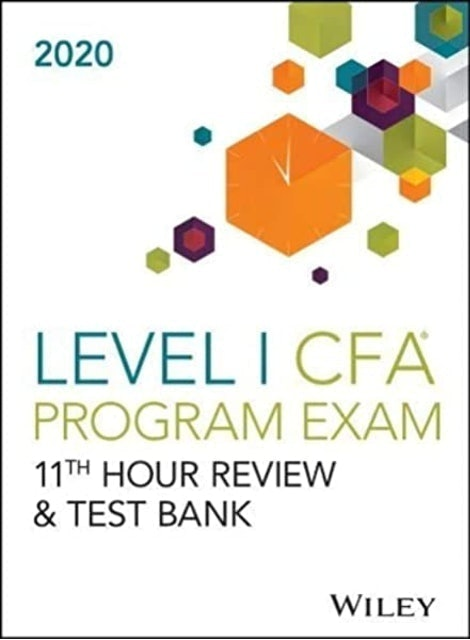 Wiley หนังสือเตรียมสอบ CFA Wiley's Level I CFA Program 11th Hour Final Review, 2020 (Study Guide) 1