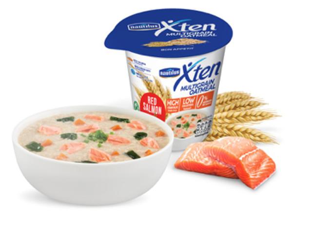 Nautilas XTEN อาหารเช้าลดน้ำหนัก Multigrain Oatmeal Red Salmon 1