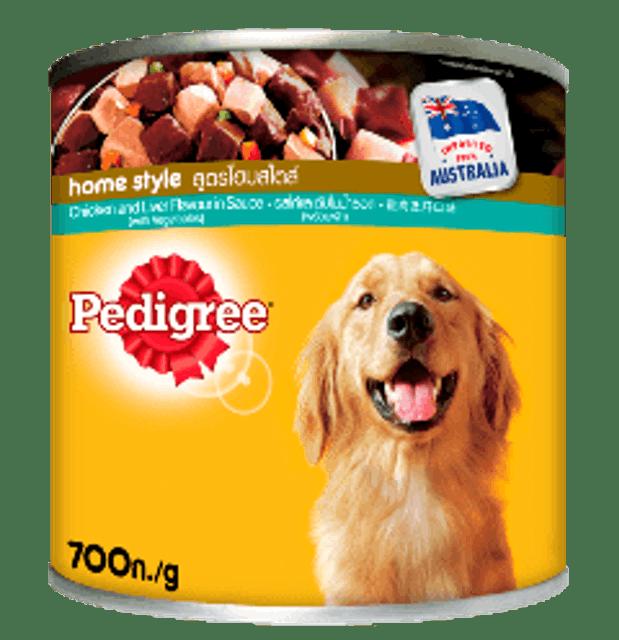 Pedigree อาหารสุนัขชนิดเปียก แบบกระป๋อง เนื้อไก่ชิ้นและตับในน้ำซอส 1