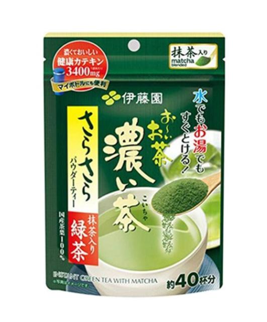 Ito En ชาเขียวสำเร็จรูป ชาเขียวญี่ปุ่นปรุงสำเร็จชนิดผง 1