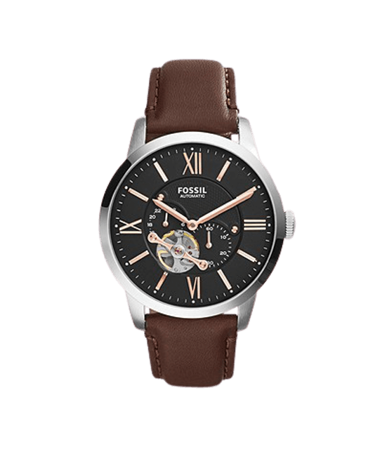 FOSSIL Townsman Automatic Leather Watch Brown 1