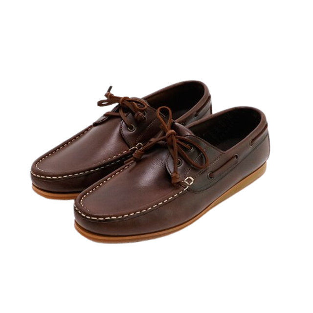 BROWN STONE รองเท้าหนังผู้ชาย Brown Stone The Punter's Boat Shoes Oil Leather Brandy Brown 1