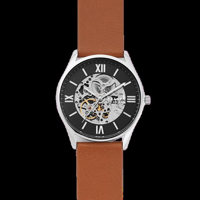 SKAGEN Holst Automatic Brown Leather Watch 1