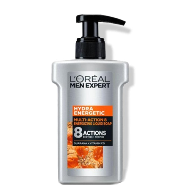 L'Oreal Paris โฟมล้างหน้าผู้ชายลดสิว Hydra Energetic Multi-Action 8 Serum Foam 1