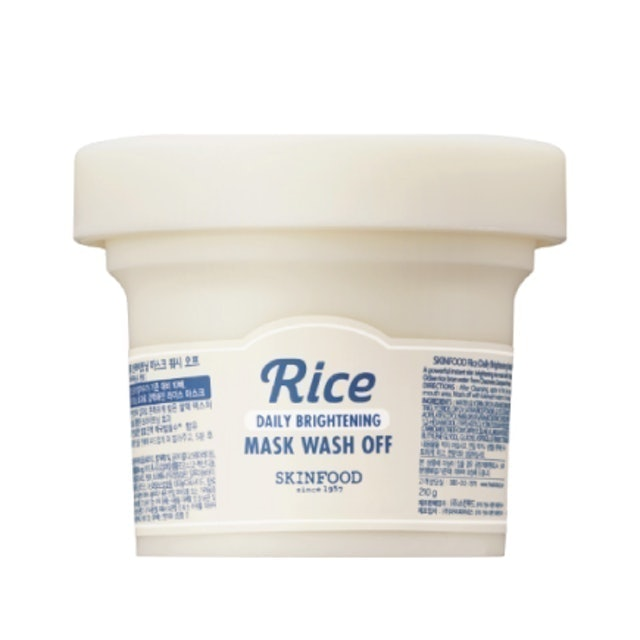 Skinfood มาส์กหน้าเกาหลี Rice Daily Brightening Mask Wash-off 1
