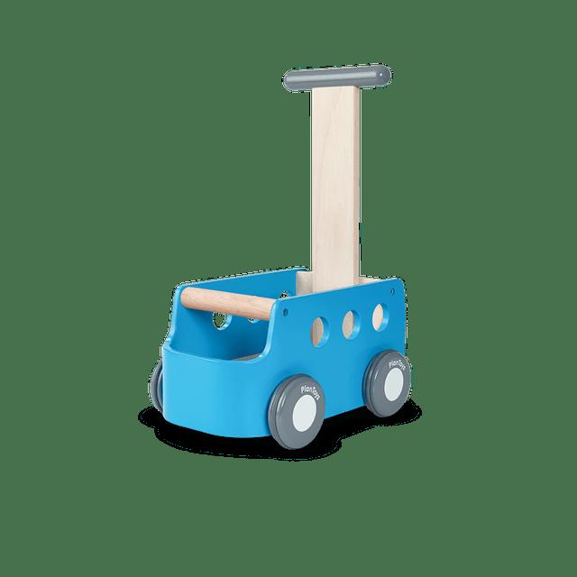 PlanToys รถของเล่นเด็ก รุ่น รถตู้ผลักเดินสีฟ้า 1