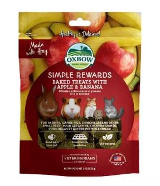 Oxbow บิสกิตผสมแอปเปิ้ลและกล้วยอบแห้ง 1